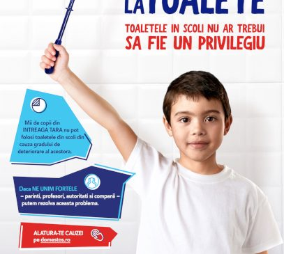Domestos, alături de Crucea Roșie Română, va dota cu grupuri sanitare și va moderniza toalete din mai multe școli din România