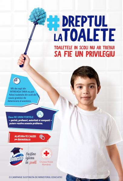 Domestos sustine igiena in scoli 2019 Vizual