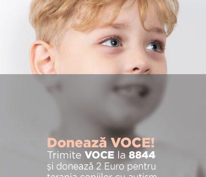 Autism Voice lansează campania de donații prin SMS pentru terapia gratuită a celor 200 de copii din centrele lor