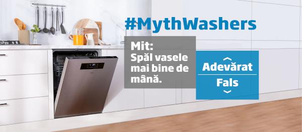 #MythWashers, și miturile despre mașinile de spălat vase dispar