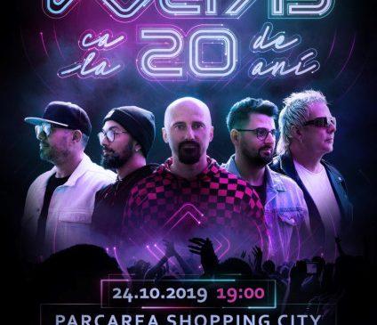 Trupa Voltaj împlinește 20 de ani și sărbătorește la Shopping City Piatra-Neamț