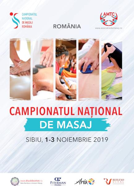 afis Campionatul National de Masaj - Sibiu