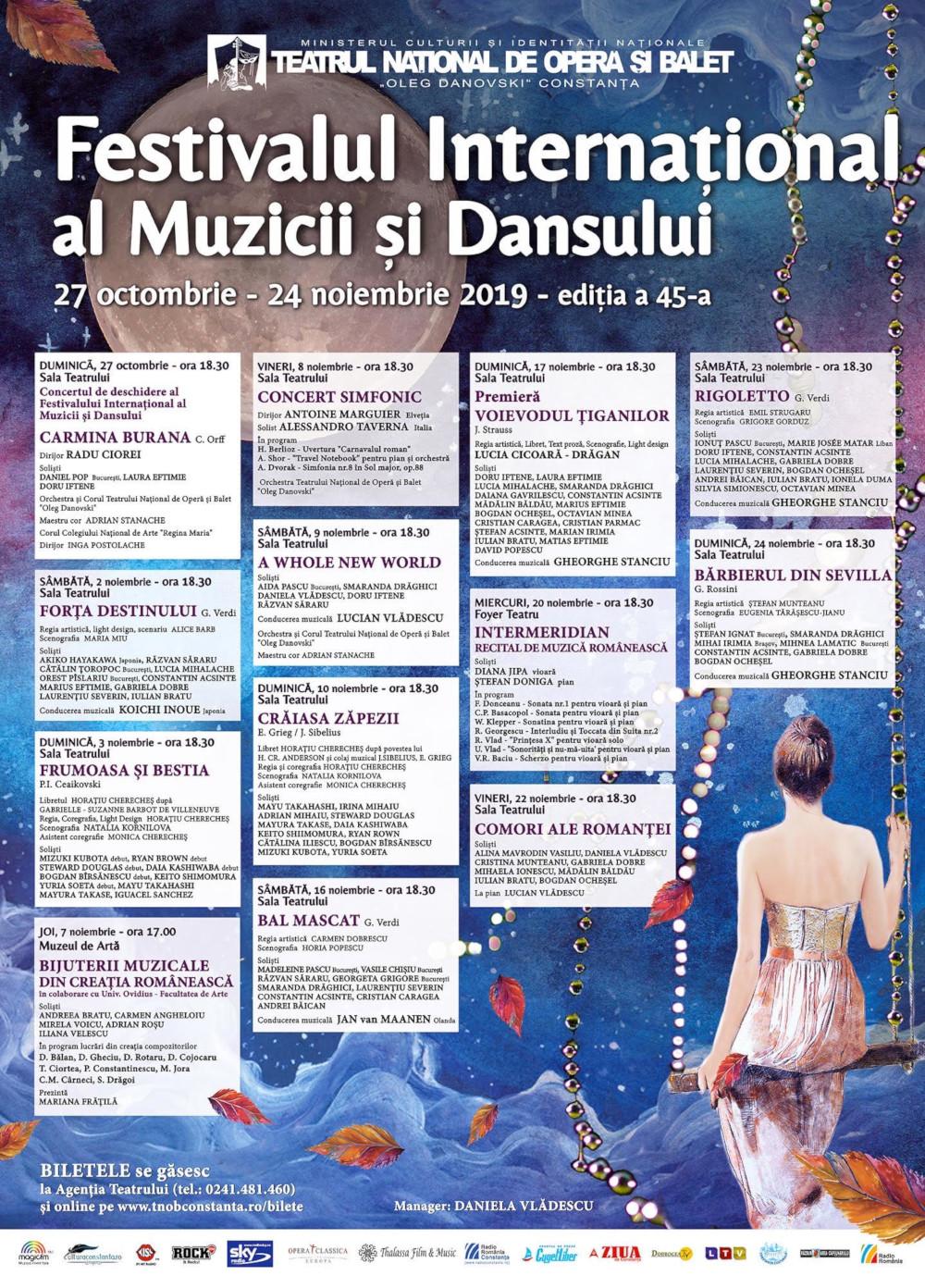 afis Festivalul International al Muzicii si Dansului