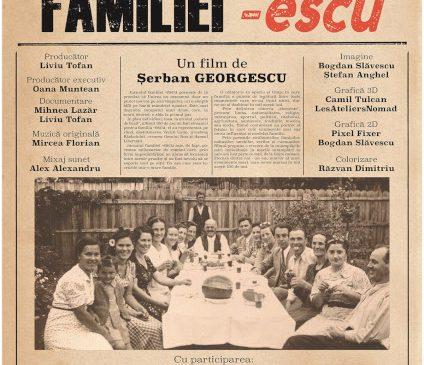 Jurnalul familiei -escu: proiecții speciale în marile festivaluri românești ale toamnei, înainte de lansarea în cinema