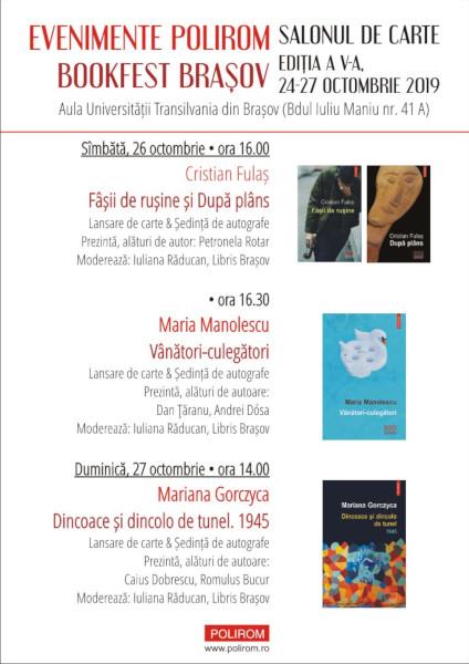 afis Program Bookfest Brasov 2019, Polirom