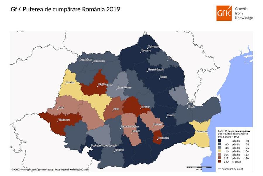 GfK Puterea de Cumpărare în Romania 2019