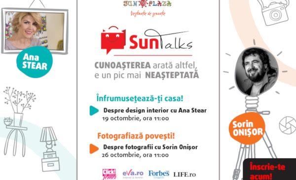 Sun Talks: seminarii gratuite cu Ana Stear și Sorin Onișor