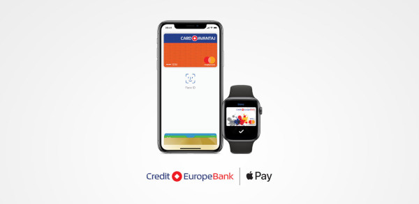 Apple Pay ajunge la clienții Credit Europe Bank România