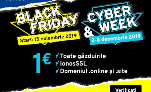 Hosting la 1 €?! Black Week continuă la IONOS