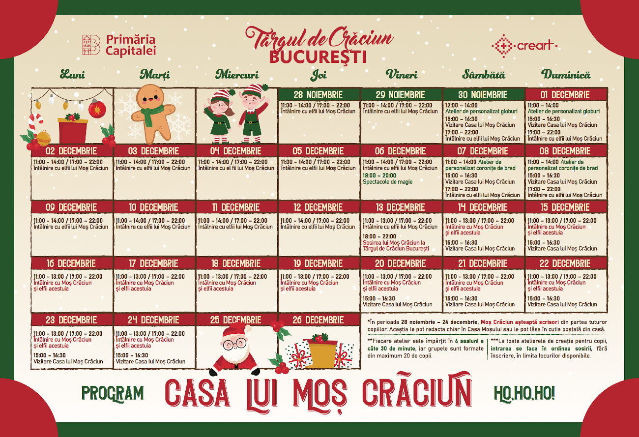 Casa lui Mos Craciun 2019 - program