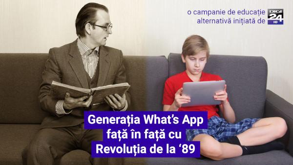 Generatia Whats App fata in fata cu Revolutia de la 89