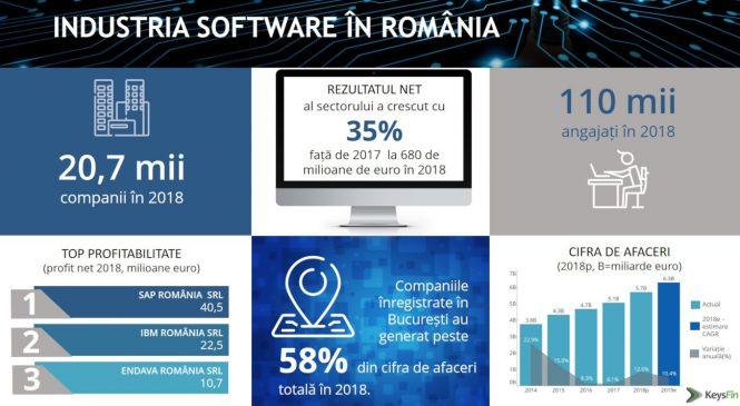 Românii investesc aproape la fel de mult ca investitorii străini în piața locală de software: 53% investiții străine versus 47% investiții locale