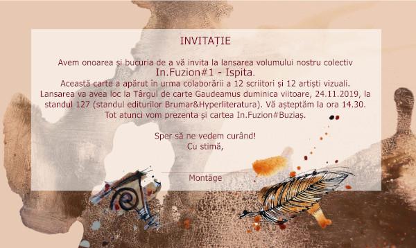Lansarea volumului InFuzion#Ispita la Târgul de carte Gaudeamus