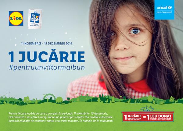 Lidl si UNICEF sustin copiii din comunitatile vulnerabile