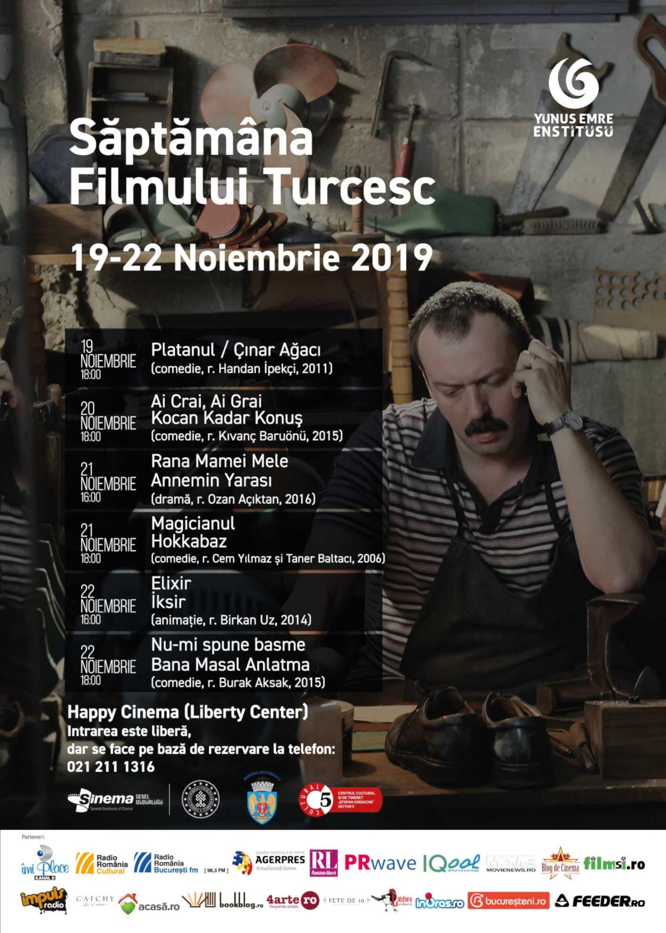 Saptamana Filmului Turcesc program