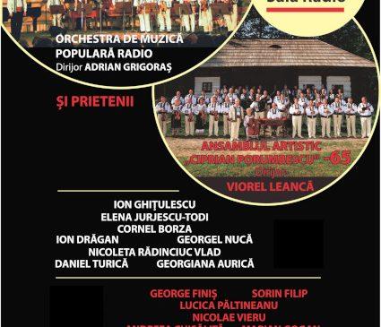 Folclorul bucovinean autentic pe scena Sălii Radio