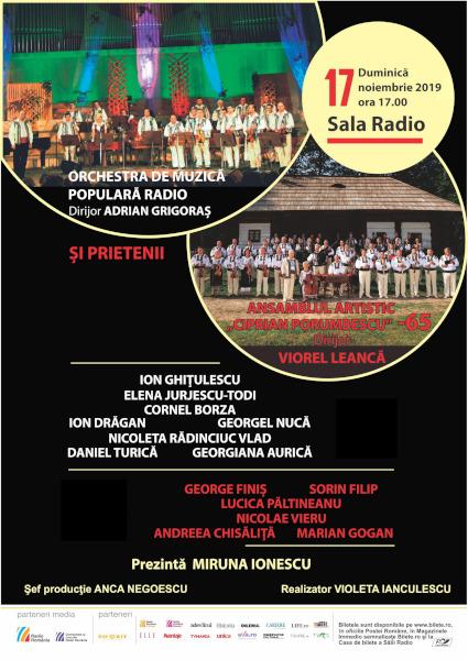 afis Folclor bucovinean, 17 nov 2019, Sala Radio