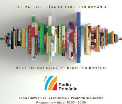 Cel mai mare târg de carte organizat vreodată în România se deschide miercuri, 20 noiembrie Târgul Gaudeamus Radio România, ediția a 26-a 20–24 noiembrie, București, Pavilionul B2 Romexpo