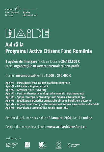 Aplica la Active Citizens Fund Romania