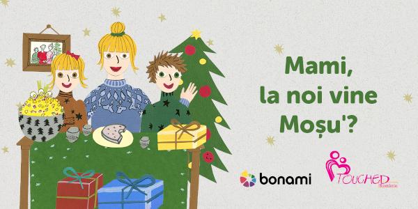 Bonami și Touched Romania împreună pentru campania Dăruiește un Crăciun Fericit!