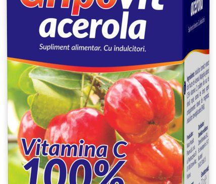 Ai încredere în noul Gripovit ACEROLA – Vitamina C 100% naturală
