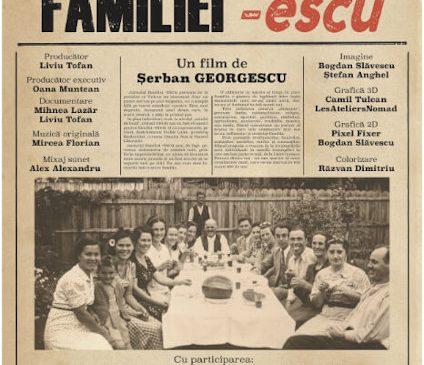 """""""Jurnalul familiei –escu"""", o radiografie a identităţii româneşti, la TVR 1"""