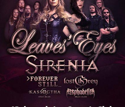 Leaves' Eyes si Sirenia – The Female Metal Voices Tour 2019 la Quantic pe 10 Decembrie