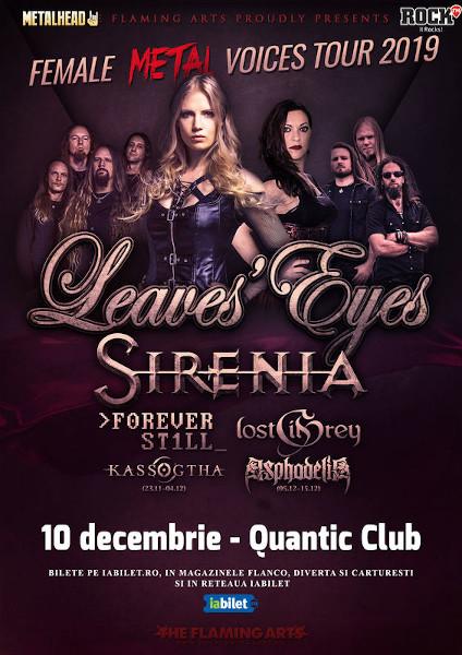 Leaves Eyes si Sirenia - The Female Metal Voices Tour 2019, Quantic