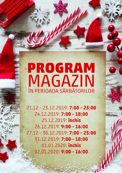 Program sarbatori 2019