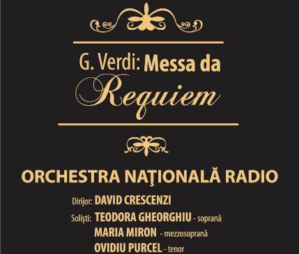 RECVIEMUL DE VERDI: Concert In memoriam – 30 de ani de la Revoluţia din 1989 la SALA RADIO