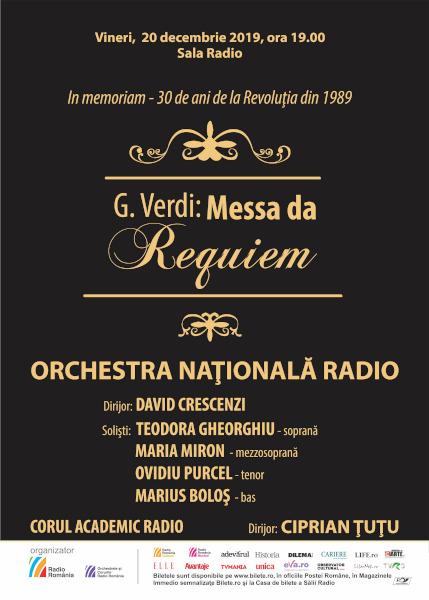 Recviemul lui Verdi 20 dec 2019, Sala Radio