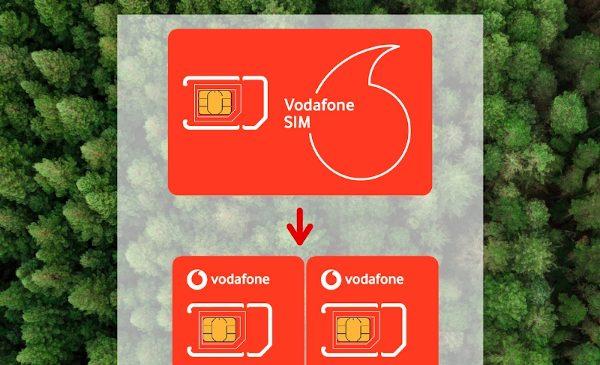 Vodafone introduce cartele SIM cu dimensiune înjumătățită pentru a reduce deșeurile plastice