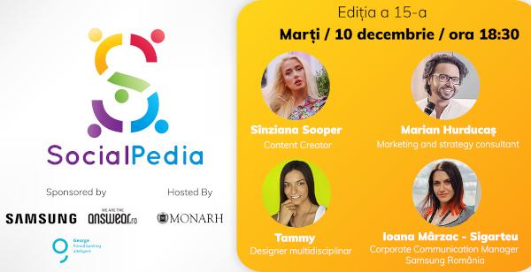 SocialPedia 15: Despre conținut de calitate pe Instagram cu Sînziana Sooper, Marian Hurducaș, Tammy Lovin și Ioana Mârzac-Sigarteu