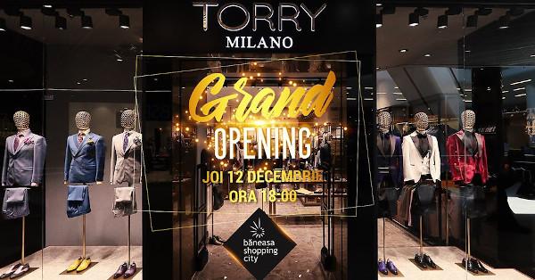 Magazinul Torry Milano se deschide și în Băneasa Shopping City