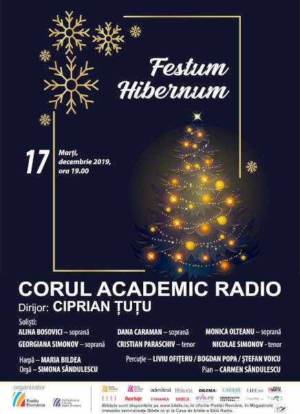 afis Corul Ac Radio, Concert colinde, 17 dec 2019