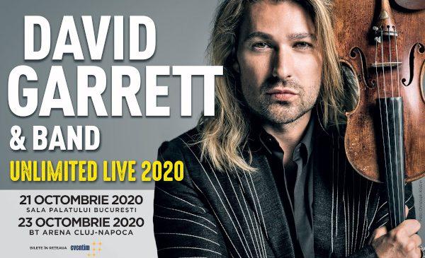 """David Garrett aduce concertul """"UNLIMITED LIVE"""" la București și Cluj-Napoca, în cadrul turneului mondial aniversar din 2020"""