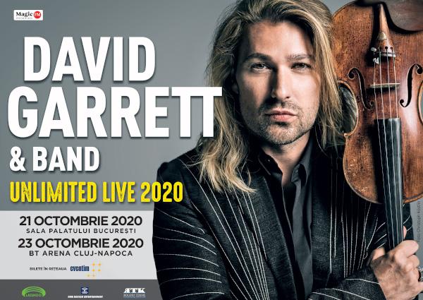 David Garrett UNLIMITED LIVE București și Cluj-Napoca