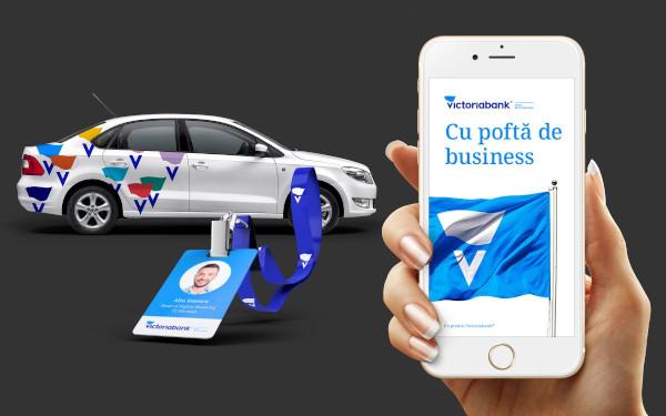 Brandient identitate Victoriabank