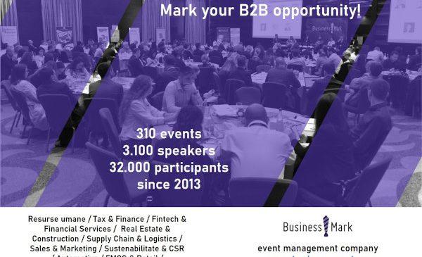 BILANȚ: În 2019, BusinessMark a organizat 60 de evenimente