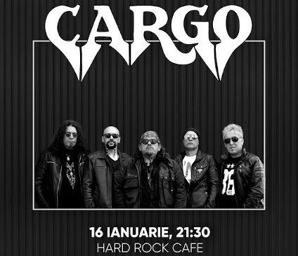 Concert Cargo la Hard Rock Cafe pe 16 Ianuarie