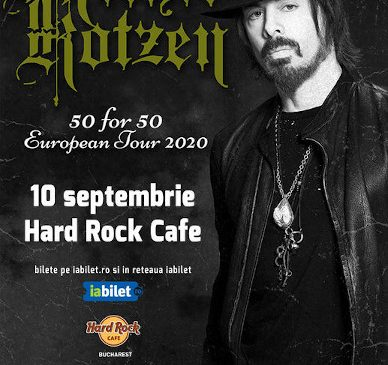 Concert Richie Kotzen: 50 for 50 la Hard Rock Cafe pe 10 Septembrie