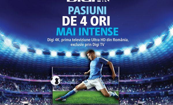 Digi TV lansează pachetul 4K alături de Eurosport și oferă abonaților din România cea mai mare diversitate de competiții sportive în format UHD