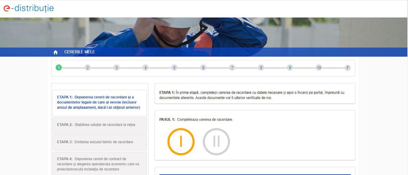 E-Distributie - Serviciul online Racordare