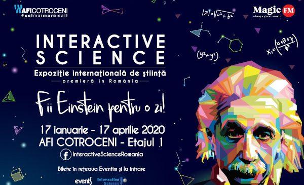 Expoziția internațională de știință Interactive Science ajunge între 17 ianuarie–17 aprilie, la București