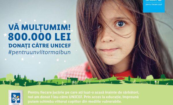 Împreună cu clienții săi, Lidl contribuie la reducerea riscului de abandon școlar și investește 800.000 lei în programul derulat de UNICEF