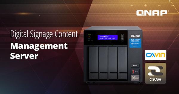QNAP și CAYIN lansează CMS Station pentru o rețea de afișaj digital de pe o platformă NAS