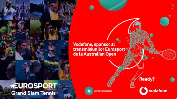 Vodafone este sponsorul transmisiunilor turneelor de tenis din 2020 difuzate de Eurosport