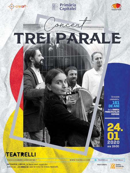 afis concert Trei Parale