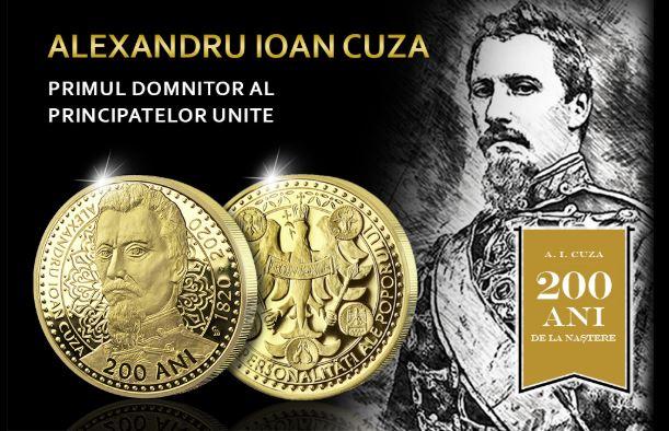 medalie comemorativă dedicată lui Alexandru Ioan Cuza