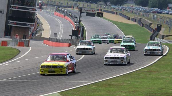 BMW Group main partner of Romanian Racing League. BMW M3 E30 DTM main racing car